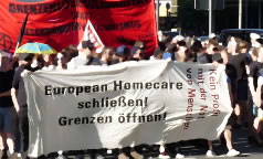 Protest gegen European Homecare in Essen