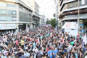 Protest gegen Privatisierung in Athen am 15. Juli 2015