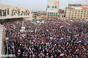 Demonstration in Bagdad am 7. August 2015 - der Motor der Reformbeschlüsse der iraksichen Regierung