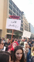 Demonstration für Müllversorgung in beirut am 19. August 2015