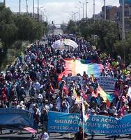 Demonstration in Quito am 13. August 2015 - Erfolg oder Mißerfolg ist jetzt dort die Debatte