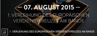 Fluchthilfe ist kein Verbrechen! 7. August 2015: Verleihung des europäischen Verdienstkreuzes