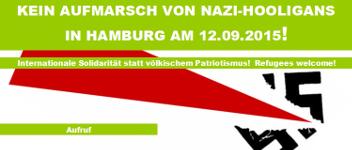 Kein Aufmarsch von Nazi-Hooligans am 12. September 2015 in Hamburg!
