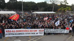 Die Streikversammlung bei GM Sao Jose am 24. August 2015 stimmte für Annahme der Vereinbarung
