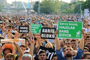 Antikriegsdemo Istanbul am 9. August 2015