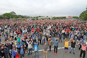 Streikversammlung Mercedes Sao Bernardo August 2015