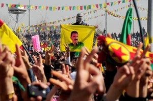 Demonstration für Frieden und Autonomie im türkischen Kurdistan August 2015