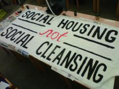 Protest gegen Social Cleansing in London Juli 2015 - die Antwort Camerons sind Arbeitslager