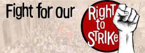 Streikrechtplakat Shopstewardnetzwerk England im Juli 2015