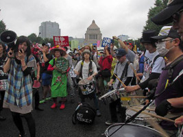 Friedensdemonstration in Tokio am 29. August 2015