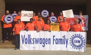 Als Volkswagenfamilie bezeichnen sich KollegInnen aus den USA, die ihre Solidarität mit dem VW Streik im brasilianischen Taubate ausdrücken