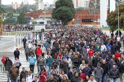 Demo auf dem Werksgelände Ford Sao Bernardo am 11. September 2015