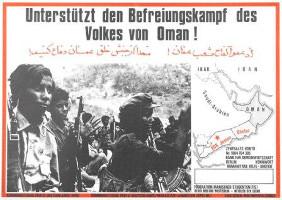 Soliplakat mit der Befreiungsfront von Oman - etwa 1970