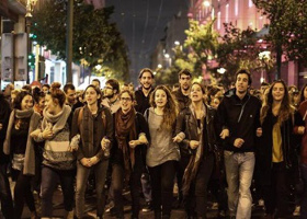 Studentendemo Athen September 2015