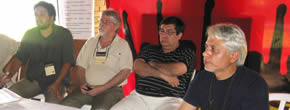 Pressekonferenz CCT Paraguay Ende August 2015 wegen Prozeß gegen Vorsitzenden