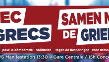 Solidaritätsdemonstration in Brüssel - vor den Neuwahlen in Griechenland