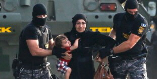 Europas Willkommen: An der ungarischen grenze am 16. September 2015