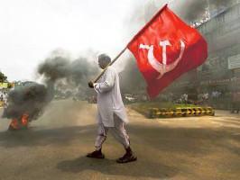 Generalstreik am 2.9.2015 in Indien, hier in Delhi