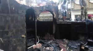 Auch Opfer der nationalistischen Wut in der Türkei - ein Buchladen, ausgebrannt am 21.9.2015