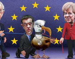 Karikatur zur Austeritätsdiktatur