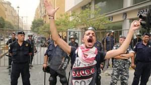 Trotz massivem Polizeiaufmarsch wurde in Beirut auch am 9. September 2015 demonstriert