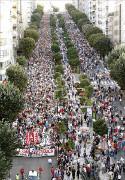 Die grösste Demonstration in der Geschichte Vigos am 3. September 2015 gegen Privatisierung des Krankenhauses