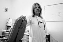 Volksklinik in Piräus - auch die Zahnärztin behandelt jeden - Aufruf zur Filförderung im September 2015