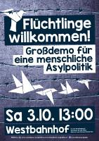 Plakat zur Wiener Demo am 3.10.2015