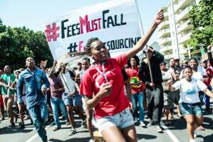 Südafrikanische Studierendendemo - nachdem die Regierung nachgab am 27. Oktober 2015