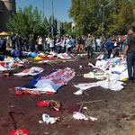 Bombenanschlag auf Friedenskundgebung in Ankara am 10.10.2015 (Foto: HDP)