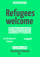 Refugees Welcome - AfD, Pegida und rassistischer Hetze entgegentreten - Berlin, 7. November 2015