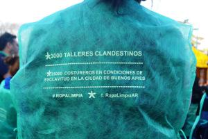 Migratinnenprotest in Buennos Aires gegen Sklavenarbeit Oktober 2015