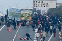 Durchbruch in Calais Oktober 2015