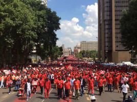 Die Großdemonstration der EFF in Johannesburg am 28. Oktober 2015 - schmerzhaft für die südafrikanische Regierung#