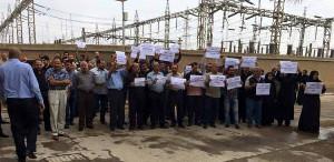 Arbeiter der E-Werke in Bagdad streiken am 28.10.2015