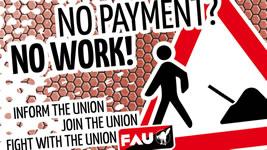 Dresden: Gewerkschaft FAU gegen systematischen Lohnbetrug am Bau