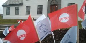 Demonstration der isländischen Gewerkschaft der Behördenangestellten am 1. Oktober 2015
