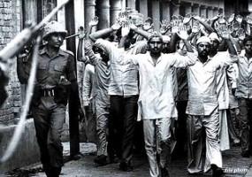 Streikende Arbeiter festgenommen: Bihlai 1991