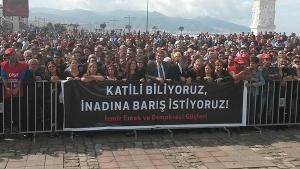 Protest in Izmir wegen Anakara Massaker 15. Oktober 2015