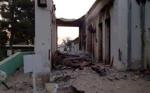 Das bombardierte Krankenhaus von Kundus am 3.10.2015