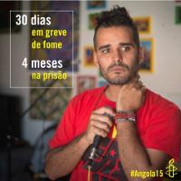 Luaty vor seinem Hungerstreik von 36 Tagen im September-Oktober 2015