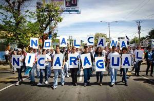 Protestdemo gegen den Nicaraguakanal im August 2015