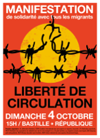Plakat Pariser Demonstration 4.10.2015