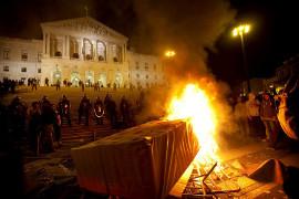Protest in Porto gegen den Staatspräsidenten am 23.10.2015