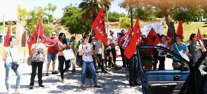 Demonstration des Gewerkschaftsbundes CGTP In gegen den portugiesischen Präsidenten am 28. Oktober 2015
