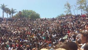 Studentenprotest Johannesburg Oktober 2015