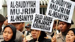 Protest vor der saudischen Botschaft in Malaysia wegen Arbeitsbedingungen - Oktober 2015