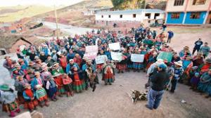 Bevölkerung beschliesst Boykott des Dialogs mit der peruanischen Regierung 2.10.2015