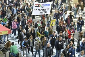 Wiendemo gegen Flüchtlingspolitik der Regierung am 3.10.2015
