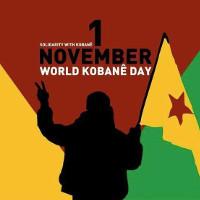 Plakat - Aufruf zum Solitag mit Kobane am 1.11.2015
